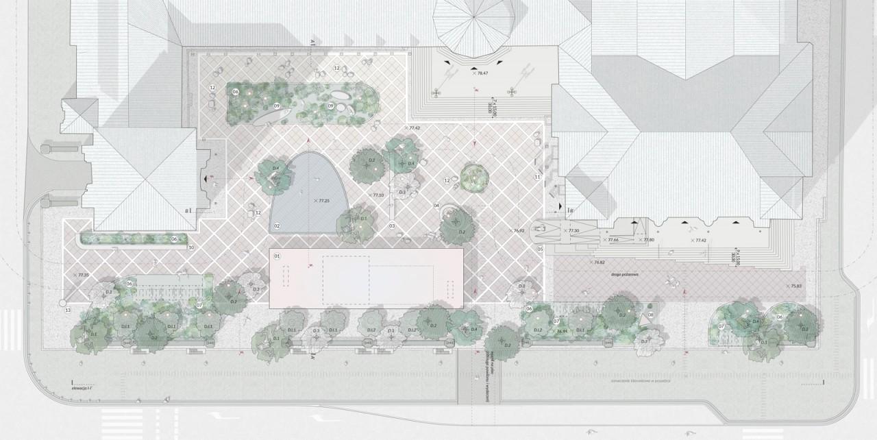 Pracownia Architektury Krajobrazu Dziedziniec przed Centrum Kultury Zamek